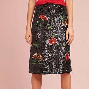 NWT Anthropologie Maeve 2 Garden Glitz Skirt